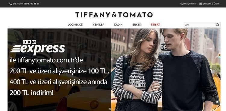 Tiffany Tomato indirim kuponu